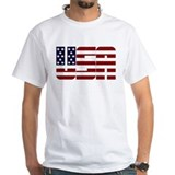 Patriotic Mens White T-shirts