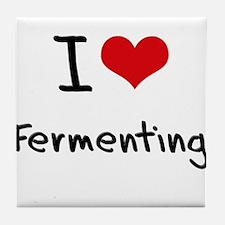 I Love Fermenting Tile Coaster