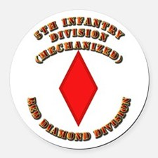 Army - Division - 5th Infantry Round Car Magnet