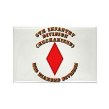 Army - Division - 5th Infantry Rectangle Magnet (1
