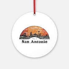 Vintage San Antonio Ornament (Round)