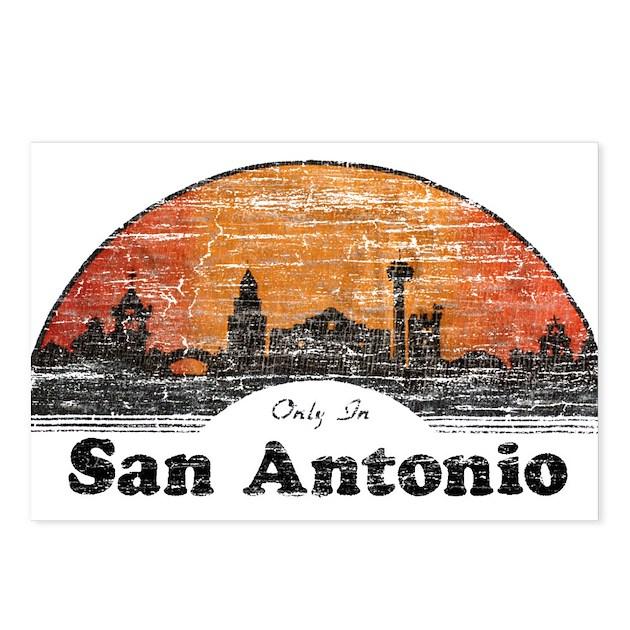 vintage san antonio postcards package of 8 by