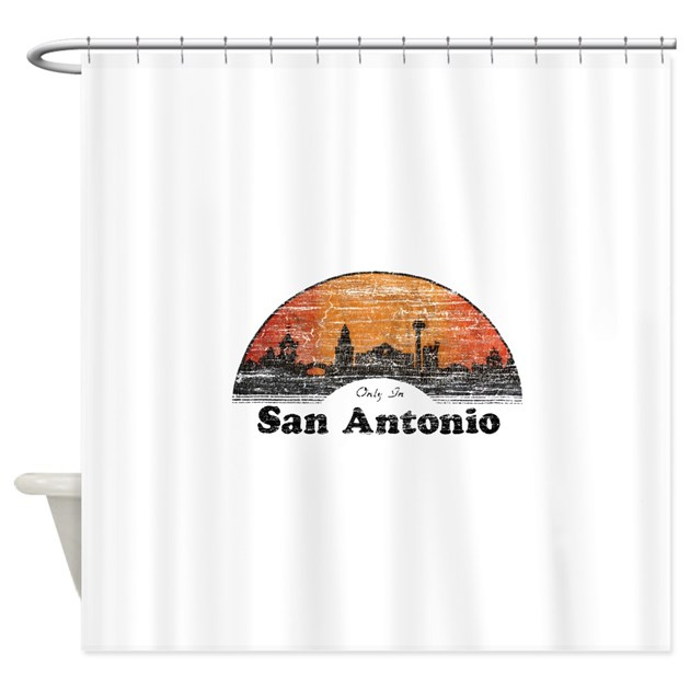 vintage san antonio shower curtain by nationalvintage