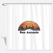 Vintage San Antonio Shower Curtain