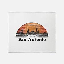 Vintage San Antonio Throw Blanket