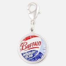 Vintage Buffalo Hockey Silver Round Charm