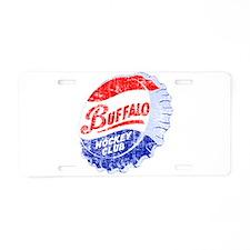 Vintage Buffalo Hockey Aluminum License Plate