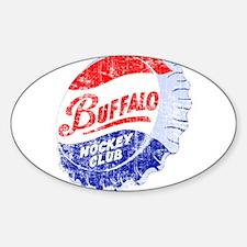 Vintage Buffalo Hockey Sticker (Oval)