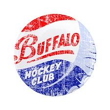 "Vintage Buffalo Hockey 3.5"" Button"