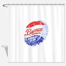 Vintage Buffalo Hockey Shower Curtain