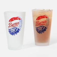 Vintage Buffalo Hockey Drinking Glass