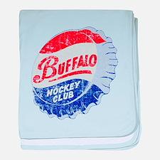 Vintage Buffalo Hockey baby blanket