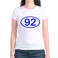 Number 92 Oval T