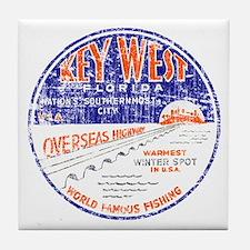 Vintage Key West Tile Coaster