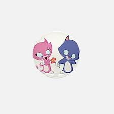 Cat Couple Mini Button (10 pack)