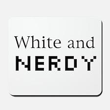White and Nerdy Mousepad