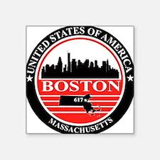 Boston logo black and red Sticker