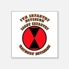 "Army - Division - 7th Infantry Square Sticker 3"" x"