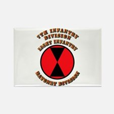 Army - Division - 7th Infantry Rectangle Magnet
