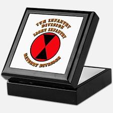 Army - Division - 7th Infantry Keepsake Box