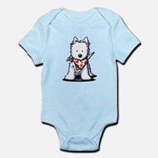 Heart Scarf Westie Infant Bodysuit