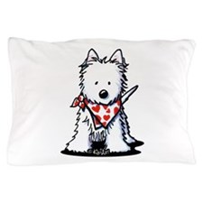 Heart Scarf Westie Pillow Case