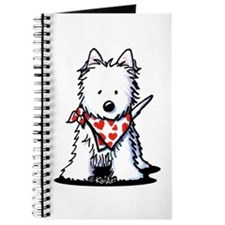 Heart Scarf Westie Journal
