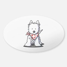 Heart Scarf Westie Decal