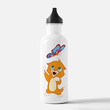 Kitten and Butterfly Water Bottle