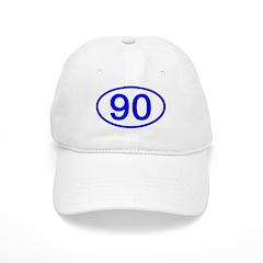 Number 90 Oval Baseball Cap