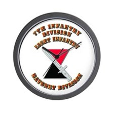 Army - Division - 7th Infantry DUI Wall Clock