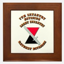 Army - Division - 7th Infantry DUI Framed Tile
