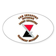 Army - Division - 7th Infantry DUI Decal