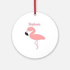 Personalized Flamingo Ornament (Round)