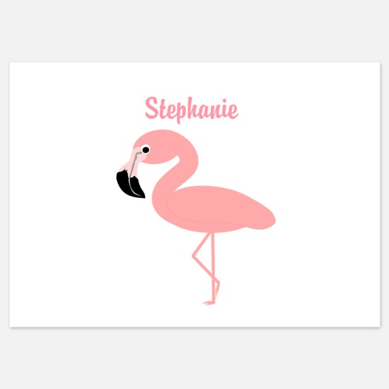 Personalized Flamingo Flat Cards