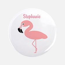 "Personalized Flamingo 3.5"" Button"