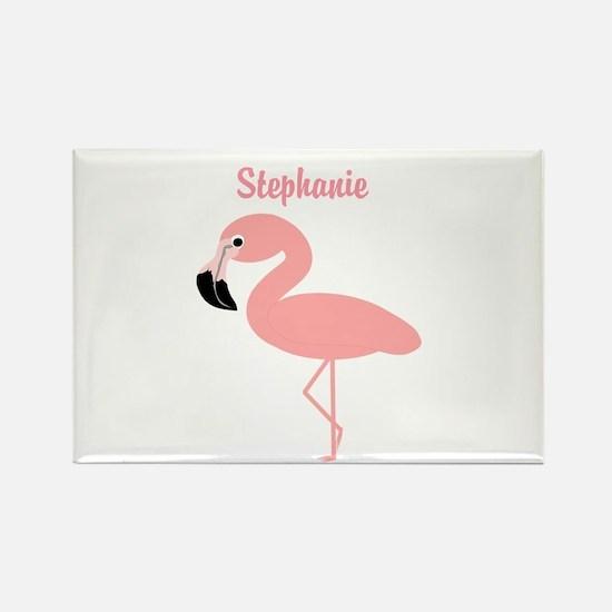 Personalized Flamingo Rectangle Magnet