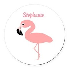 Personalized Flamingo Round Car Magnet