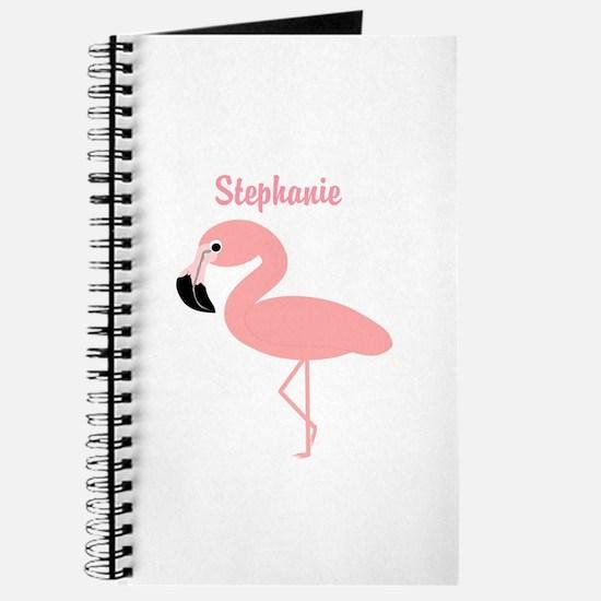 Personalized Flamingo Journal