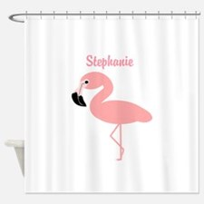 Personalized Flamingo Shower Curtain