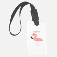 Personalized Flamingo Luggage Tag