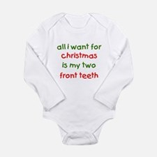 Two Front Teeth for Xmas Body Suit