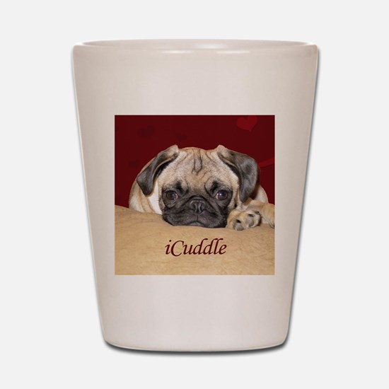 Adorable iCuddle Pug Puppy Shot Glass