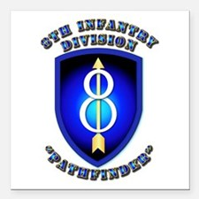Army - Division - 8th Infantry Square Car Magnet 3