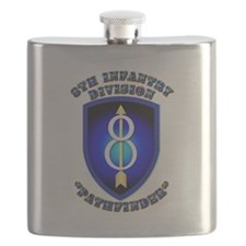 Army - Division - 8th Infantry Flask