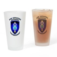 Army - Division - 8th Infantry Drinking Glass