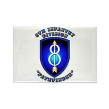 Army - Division - 8th Infantry Rectangle Magnet