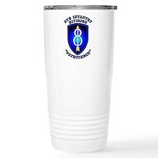 Army - Division - 8th Infantry Travel Mug