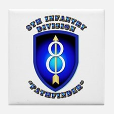 Army - Division - 8th Infantry Tile Coaster
