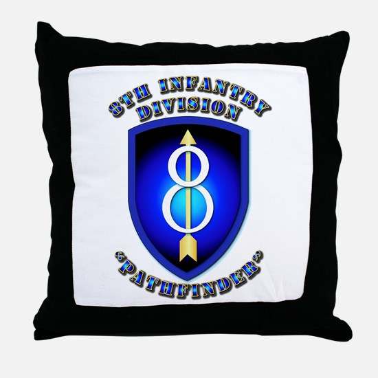 Army - Division - 8th Infantry Throw Pillow